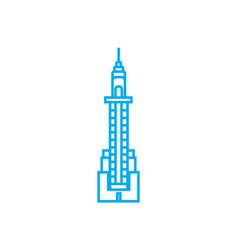 skyscraper tower linear icon concept skyscraper vector image