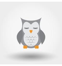 Sleeping owl Stuffed toy vector