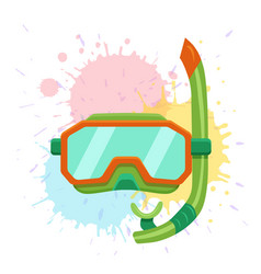 snorkeling and diving center logo vector image