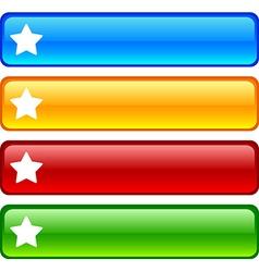 Star buttons vector