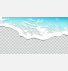 summer background transparent sea wave 3d vector image