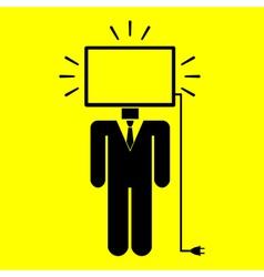 Symbol man monitor vector