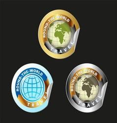 Travel Round The World Set vector image