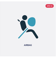 Two color airbag icon from security concept vector