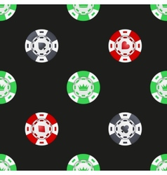 Universal casino chips seamless patterns vector image