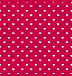 valentines day seamless pattern with small white vector image