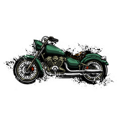 watercolor colorful motorcycle vector image