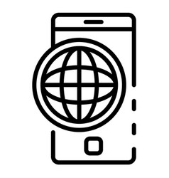 Web safe surfing icon outline style vector