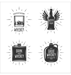 whiskey related typography set quotes vector image
