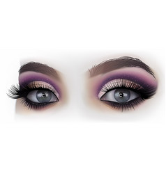 Woman eyes fashion makeup vector