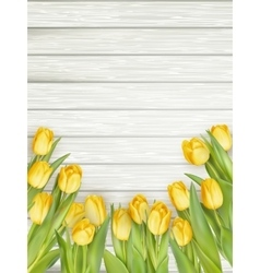 Yellow tulips with copy space eps 10 vector
