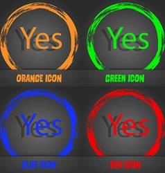 Yes sign icon Positive check symbol Fashionable vector