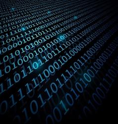 Binary Data background vector image