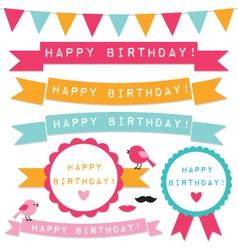 Birthday design elements vector image vector image