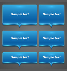 blue chat frame all sizes vector image vector image