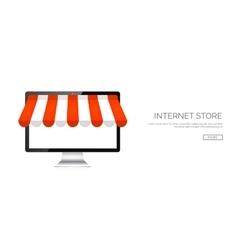 Computer Online store vector image