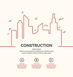Construction houses background vector image