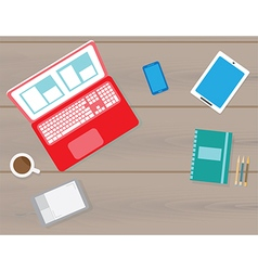 Flat workspace vector image