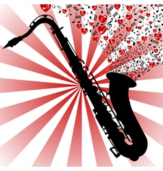 Saxophone-love music vector image vector image