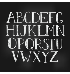 simple hand drawn letters vector image