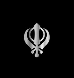 Symbol of Sikhism Religion vector image