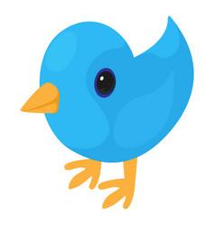 bird icon isometric 3d style vector image