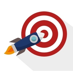 efficiency target rocket success design isolated vector image