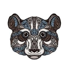 Ethnic ornamented panda or bear Hand drawn vector image