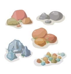 Stone and rock collection set vector image