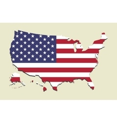 USA map flag vector image vector image