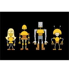 cartoon robots vector image vector image