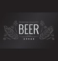 chalk beer emblem vector image vector image