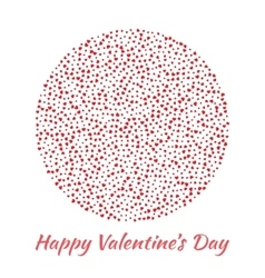 Circle red Hearts Valentines Day card Background vector image vector image