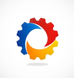 Gear abstract color work industry logo vector
