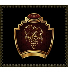 gold label for packing wine vector image vector image