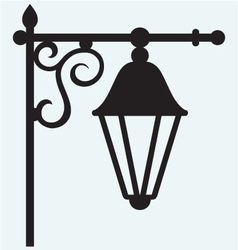 Silhouette lamp of wrought metal vector image vector image