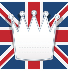 uk note paper vector image vector image