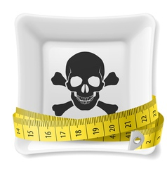 Unhealthy dieting vector