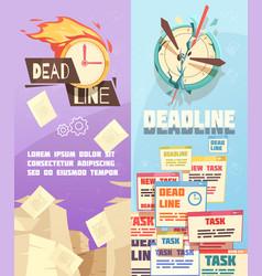 business work deadline vertical banners vector image