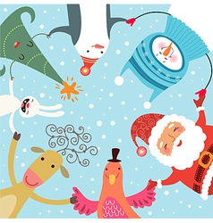 Christmas dance vector image vector image
