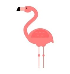 Cool pink flamingo vector image