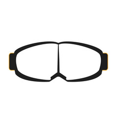 goggles isolated on white background vector image
