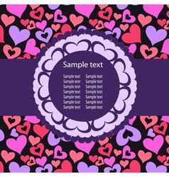 Hearts Background ith sample text vector image vector image