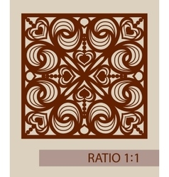 The template pattern for decorative panel vector image