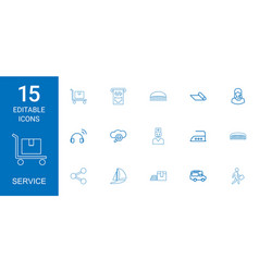 15 service icons vector