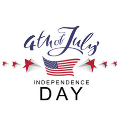 4 the july independence day handwritten vector image