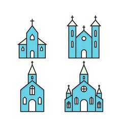 a church vector image