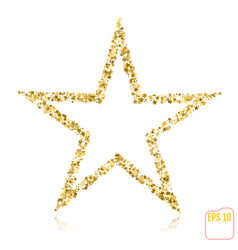 A gold star to decorate a christmas tree vector