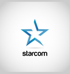 abstract blue star logo sign symbol icon vector image