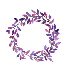 abstract mythic tree wreath watercolor vector image